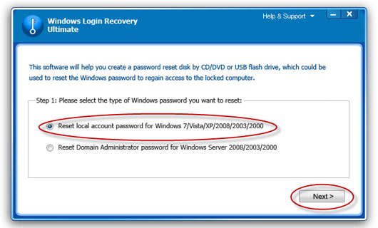 recover Windows 2003 password
