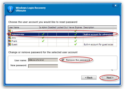 remove Windows 2003 password