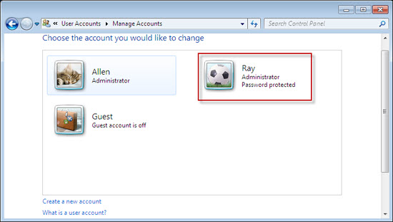 windows 7 administrator password recovery